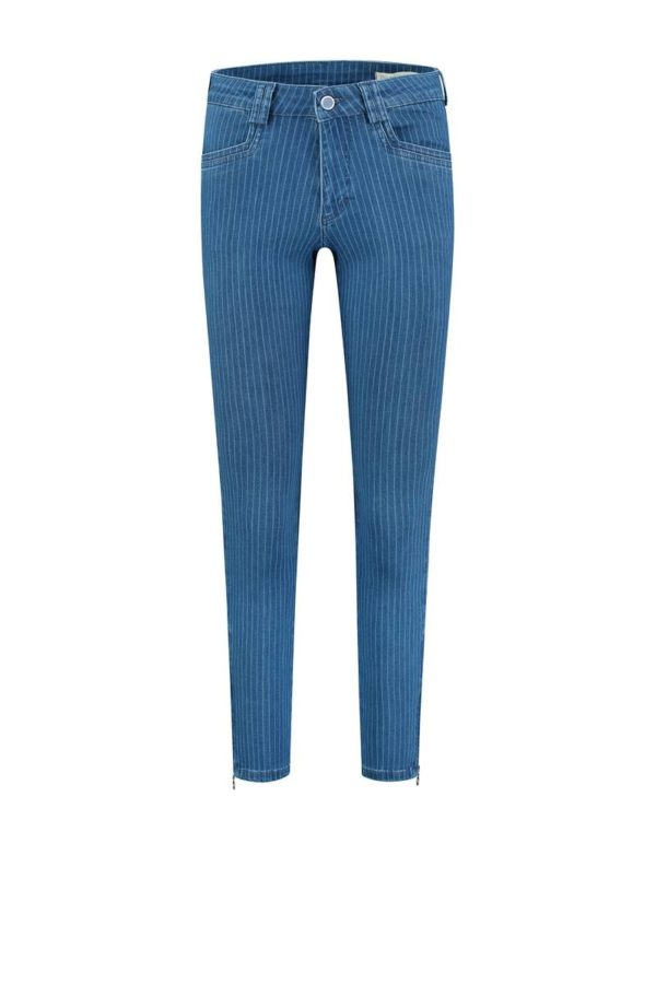 Para-Mi-broek-Amber-Summer-Blue-Print-Denim-Pinstripe-Blue-